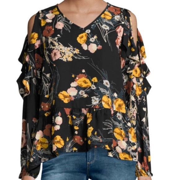 2593b6ee9da932 I Jeans By Buffalo By JCP Cold Shoulder Top